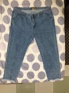 Plus-Size Medium-Wash Mom Jeans