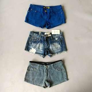 🚚 日本品牌 | GILFY | 全新 深藍 日常 直條紋 休閒 海洋感 百搭 短褲 日貨