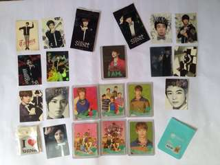 Shinee official photocard photo card minho taemin group star collection card