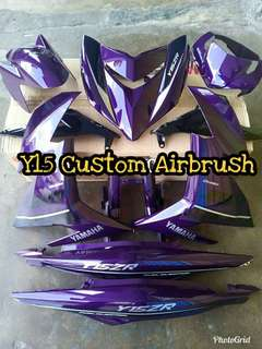 Cover set y15 Ori hly full airbrush design exciter
