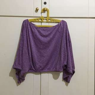 Colorbox Purple Batwing Blouse