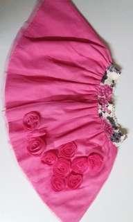 Ms. Cupcake Pink Floral Skirt