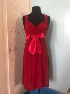 Formal Knee-length Red Dress