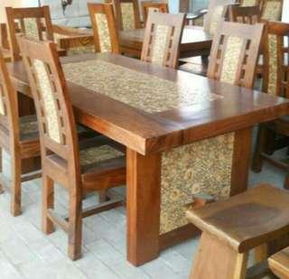 Meja makan trembesi MMT61