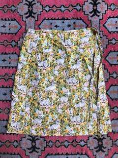 Bunny cotton wrap skirt size small