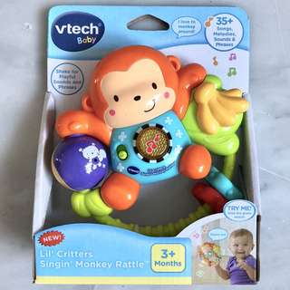 (In-Stock) VTech Lil' Critters Singin' Monkey Rattle Baby Toy (Brand New)
