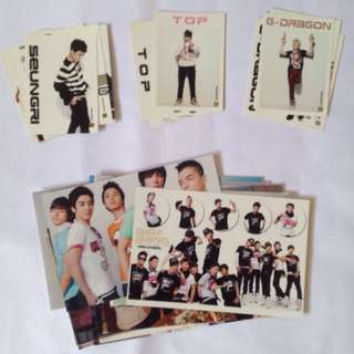 Big Bang Star collection card g-dragon gd top seungri set + free printed photographs