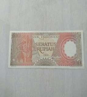 Indonesia 1964 100 Rupiah Nice Note