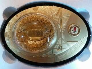 北京奧運 ~ 鳥巢~ 鍍金擺設,官方授權產品。限量發行30,000 件,現特價發售。