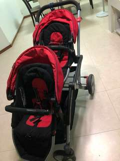 Contours Options LT double stroller (red)