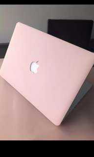 Macbook casing (baby pink)