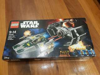 LEGO Darth Vader's Tie Fighter vs. A-wing Star Fighter