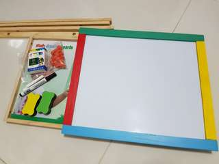 Double sided blackboard and whiteboard