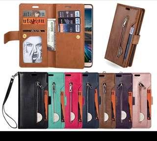 預訂款~華為Huawei mate10 pro 手機拉鏈錢包插卡掛繩 mate10 皮夾皮套手機殼