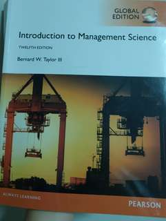 Introduction to Management Science Twelfth Edition (Pearson)
