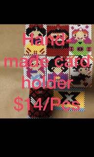 Handmade beaded card holder