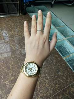 Avon Signature Boyfriend Gold Watch