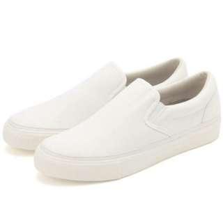 🚚 MUJI無印良品潑水加工有機棉基本便鞋