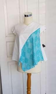 Batik mint blouse murah