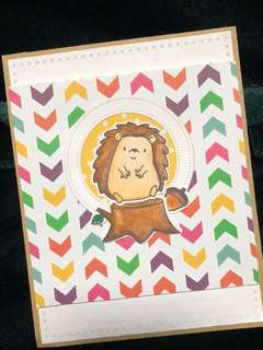 Handmade Hedgehog Card (For any occasion)