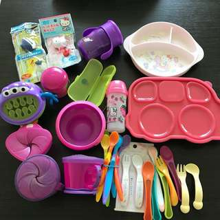 Baby Feeding Bundle Plates, Forks, Spoons and Mug Cup