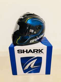 Helmet: Shark Race R Pro Carbon Guintoli Replica