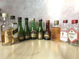 Empty & Opened Miniature Bottles of Liquor