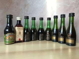 Miniature Bottles of Liquor