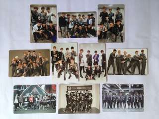 Exo official photocard postcard photo card - group - luhan sehun baekhyun chanyeol kai d.o suho lay kris chen xiumin tao