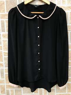 FOREVER 21 Baby Collar Blouse