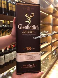 Glenfiddich Single Malt Scotch Whisky Aged 18 Years 70cl 格蘭菲迪 18 年 單麥 威士忌