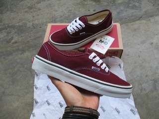 Vans Authentic Maroon White