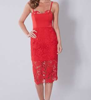 Love Honor Red Bianca Dress