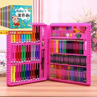 🚚 Colour Pencil Crayon Water Colour Stationery Set