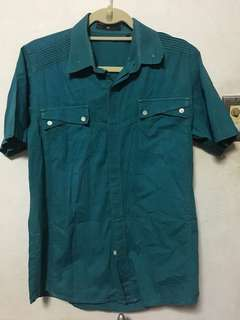 TYLER BLUE GREEN POLO