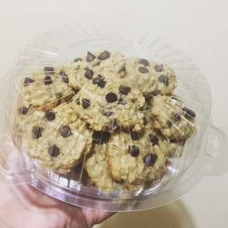 Chewy Oatmeal choco chip cookies 🍪