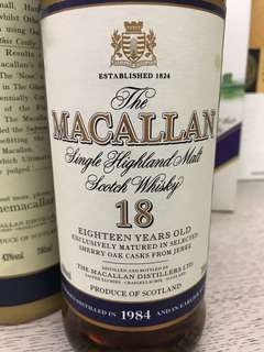 特價只限7⃣️月內 Macallan 18年(1984)特價只限7⃣️月內