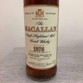 特價只限7⃣️月內 Macallan 18年(1976) 冇盒(水平完美)特價只限7⃣️月內
