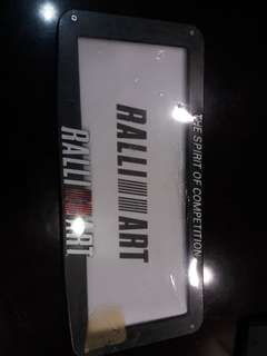 Ralliart Plate Frame