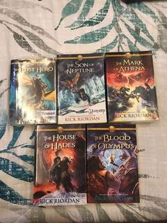 Heroes of Olympus (The Lost Hero, The Son of Neptue, The Mark of Athena, The House of Hades, The Blood of Olympus) by Rick Riordan