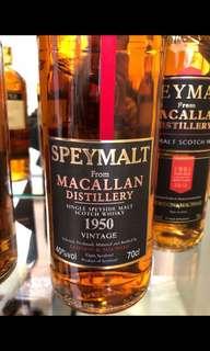 特價只限7⃣️月內 44年極品 G&M Macallan 1950 (1994 bottles) 須先付訂金$5,000