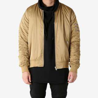 Brown Nana Judy bomber jacket