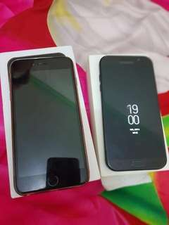 iphone 6s plus 64gb dan samsung a7 2017