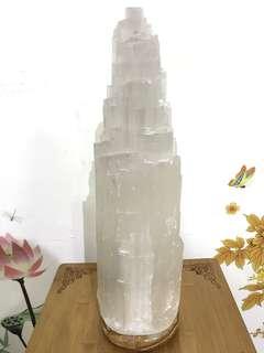 Selenite Crystal Lamp