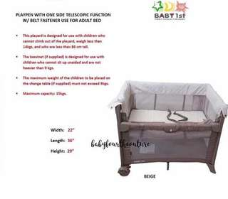 Bassinet and playpen