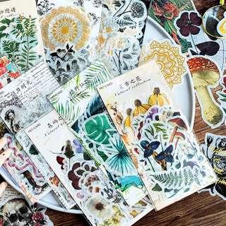 Vintage Floral Botanical Washi Sticker Pack