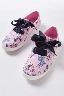 Rubi by Cotton On Indy Bow Plimsoll - Pastel Floral (Size 35 - 39)