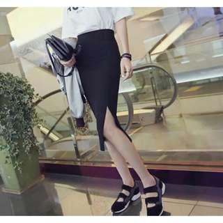 🚚 【貝莉潮流】(關注+愛心送贈品)包臀裙🎉韓版新款純棉包臀中長過膝職業OL修身顯瘦高腰半身裙子女