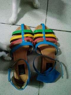 cage sandals multicolor