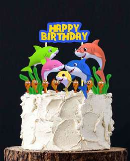 1set$12 Baby Shark Cake Topper for Birthday or Full Month celebration